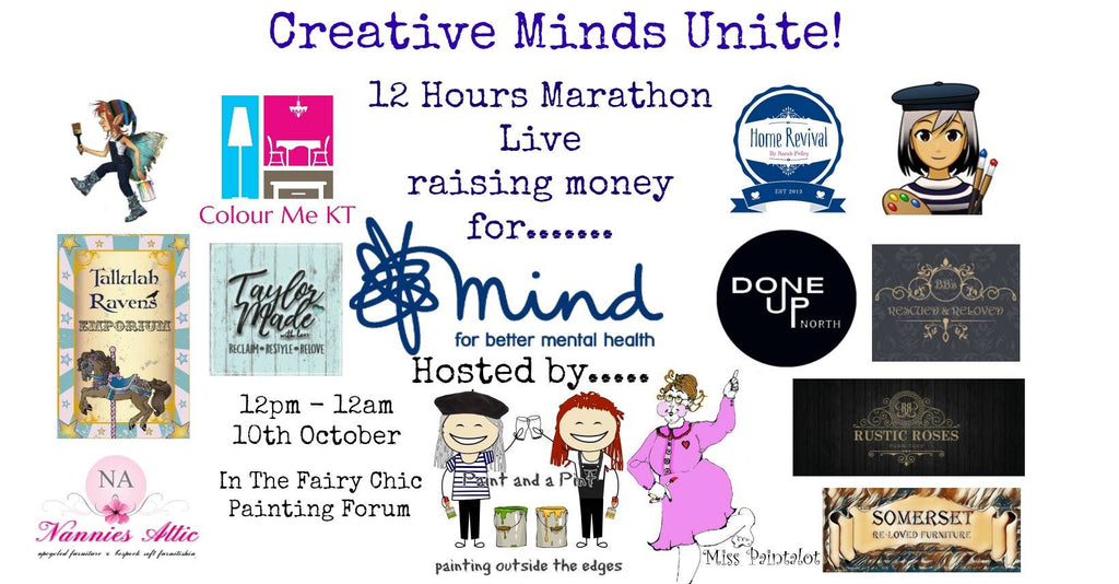 Live charity painting marathon for World Mental Health Day