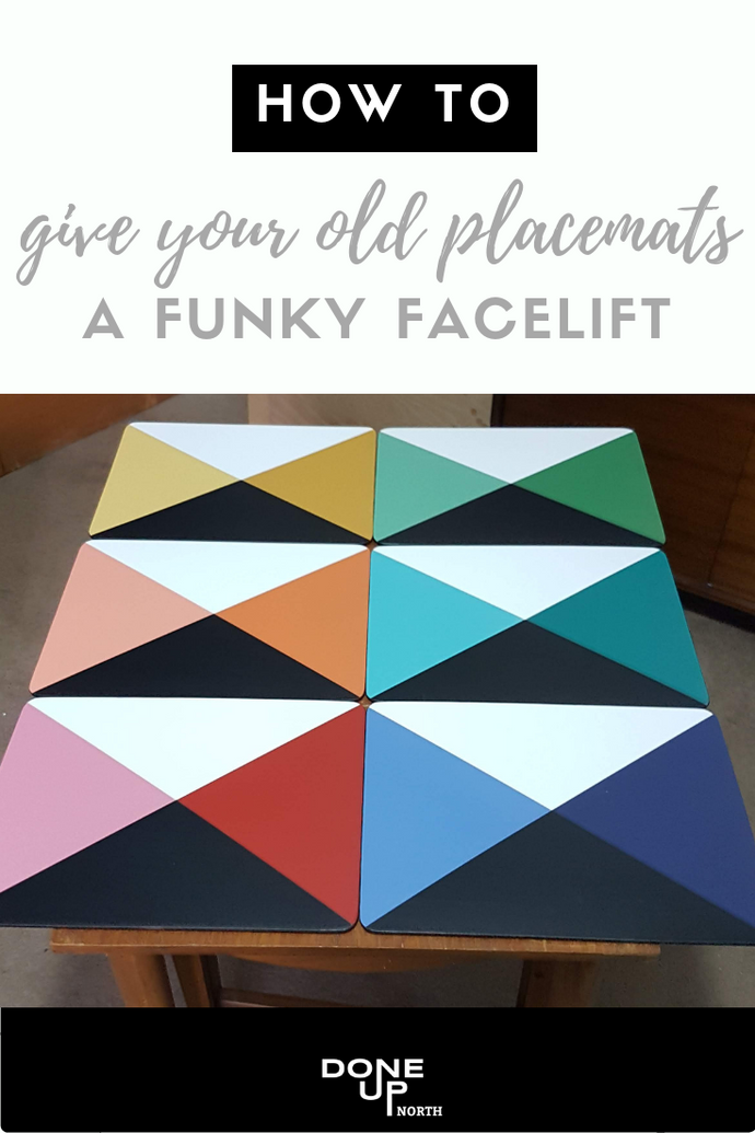 How to give your old placemats a funky facelift