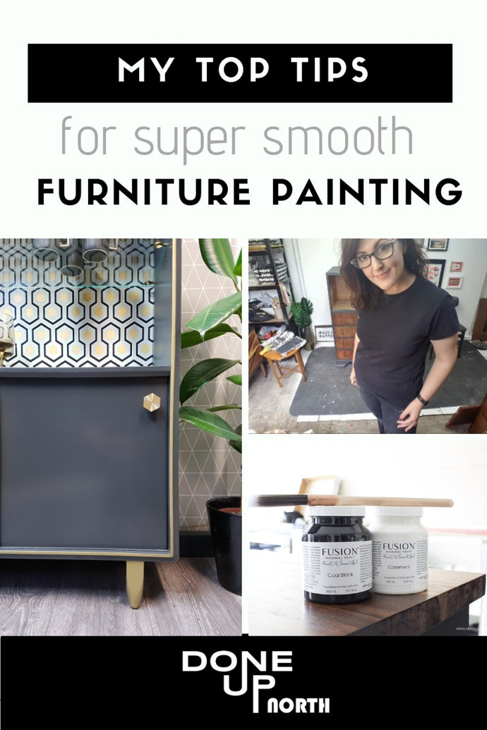 My Top tips for super smooth no brush stroke furniture painting!