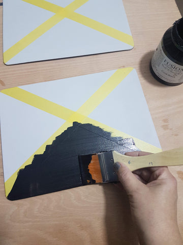 Painting the first triangle