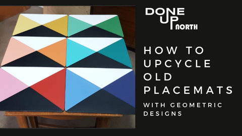 How to upcycle placemats with cool geometric designs