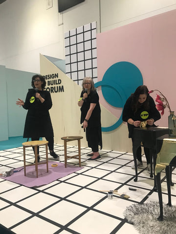Done up North & the Upcycled Hour Collective on stage at Grand Designs Live