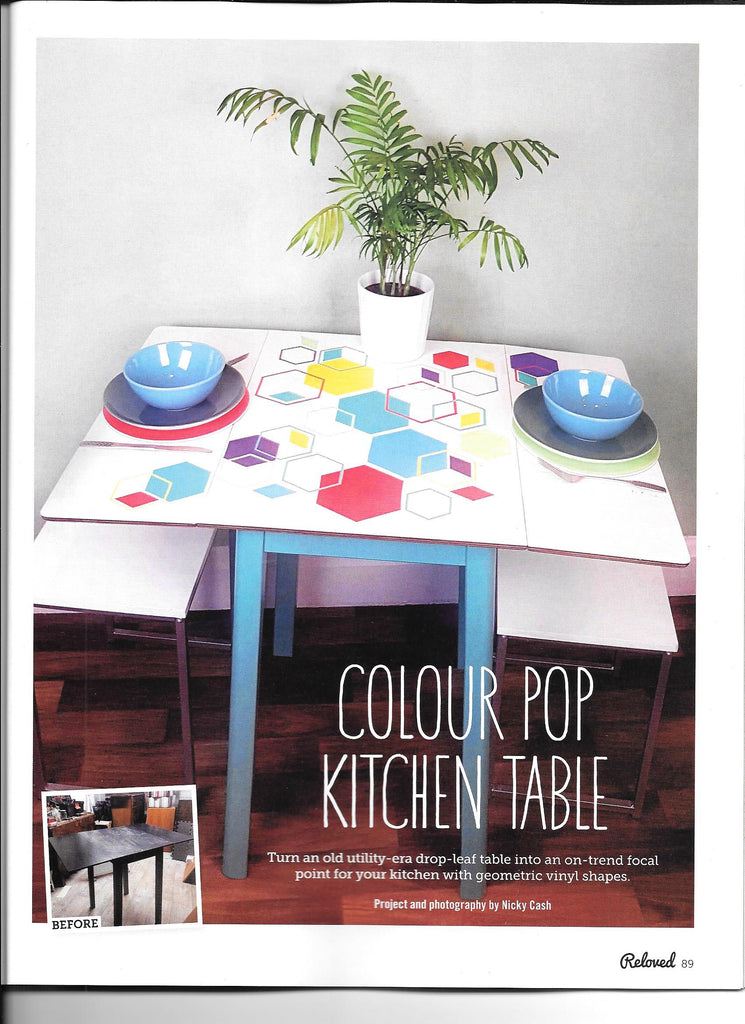 Colour pop kitchen table makeover