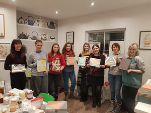 Geometric Christmas box painting workshop - 12th December