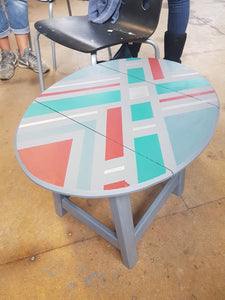 Modern furniture Painting & Geometric design - Thursday 11th July