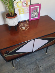 Custom upcycled cabinet