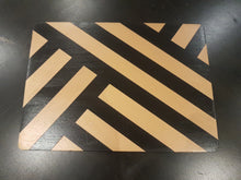 Black and metallic Copper hand-painted placemats