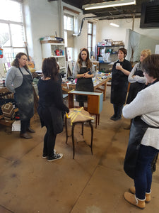 Group learning furniture upcycling leeds
