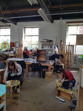 Upcycling workshop in action in leeds