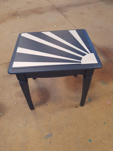 done up north geometric masking tape upcycled coffee table