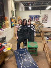 Happy workshop participants with their Done Up North style furniture completed