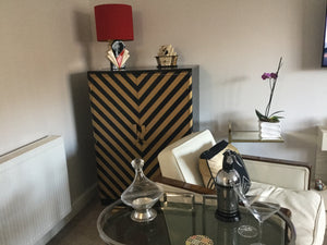 Chevron design Art Deco cabinet