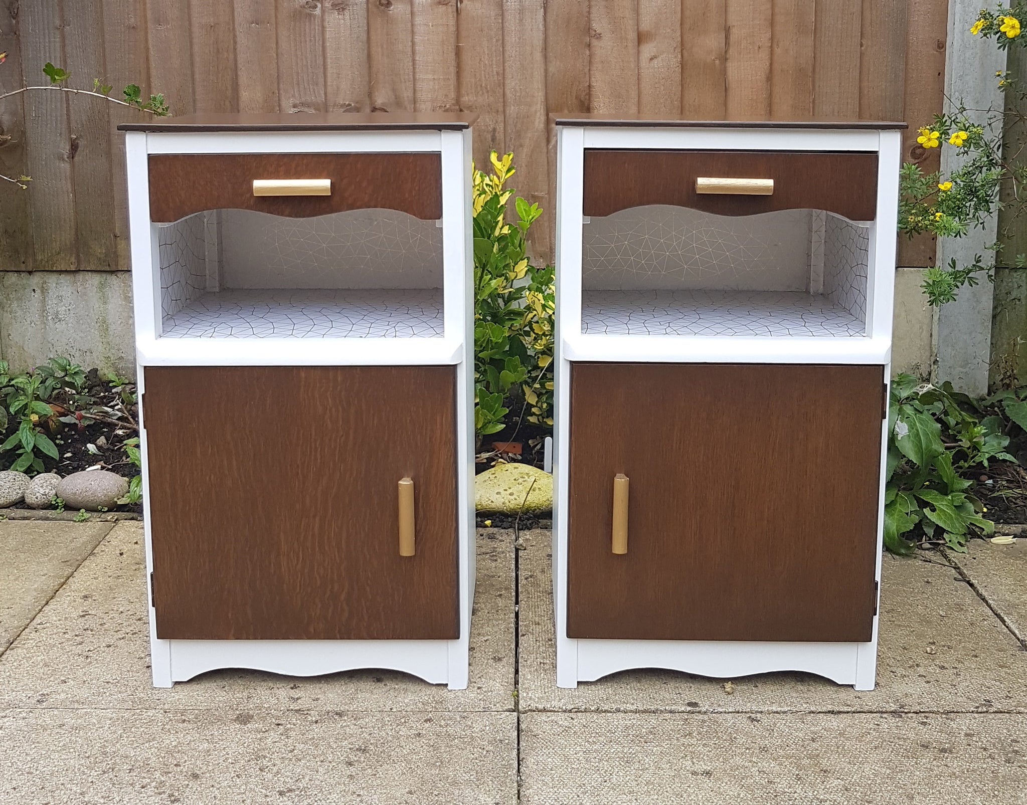 Pair of Retro styled Bedside cabinets
