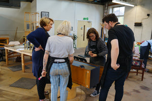 Group learning at Done Up North Upcycling Workshop Leeds