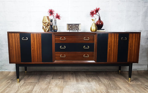 Re-styled G Plan Tola & Black 1960s sideboard