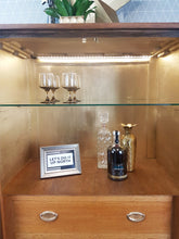 Similar can be commissioned: Gold geometric design vintage drinks cabinet