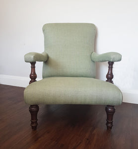 Reupholstered library chair