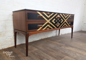 Refinished Mid Century Teak Sideboard / Dressing Table