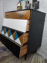 Geometric design chest of drawers