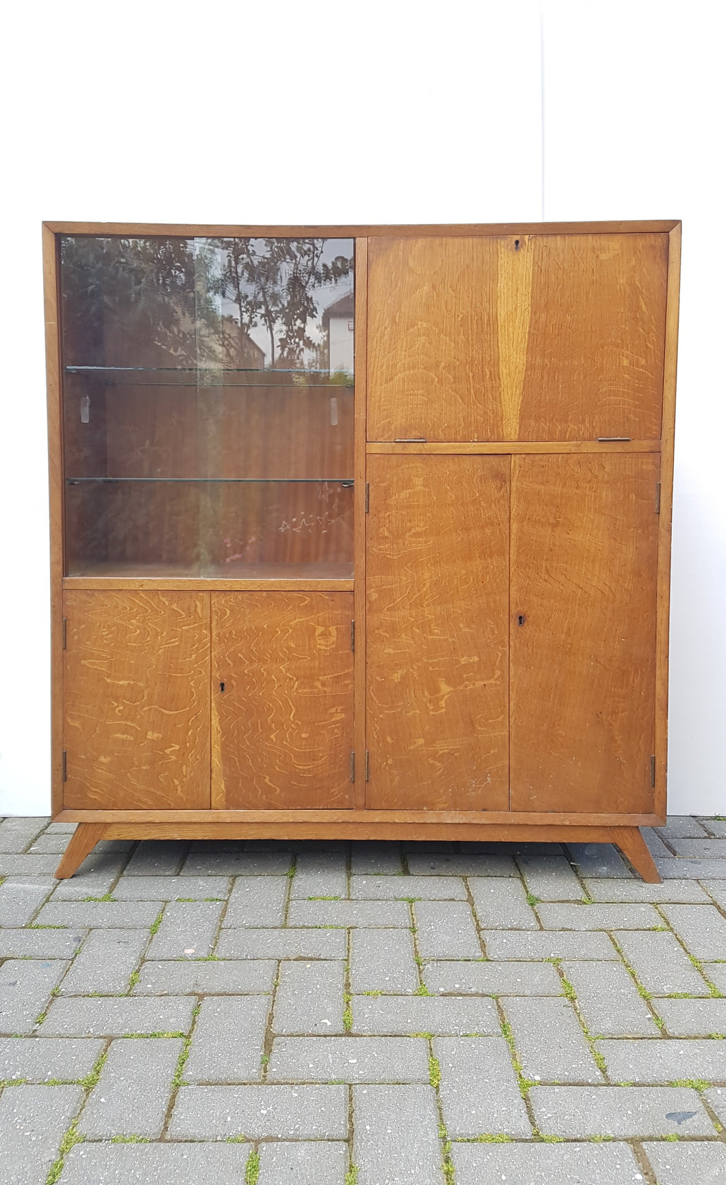 Unusual Mid Century slim Drinks Cabinet / Sideboard - waiting to be Done up