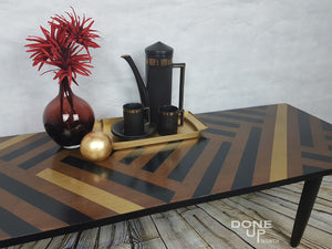 Mid-century modern Coffee table with customised geometric design