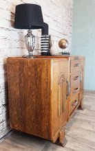 Antique Oak 1930s Art Deco Sideboard