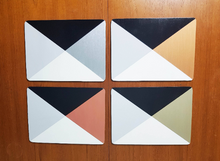 FREE GUIDE:  Upcycle old placemats with Geometric designs