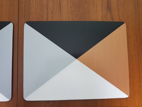 Handpainted Metallic place mats - Gold, Copper, Rose Gold, Silver