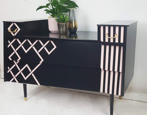 Done up north style Art deco  geometric dresser