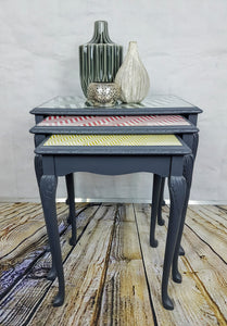 Quirky re-vamped nest of tables