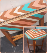 Mid Century sidetable makeover for Grand Designs Live
