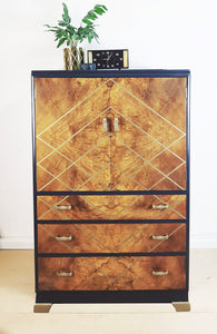 Large Vintage Drinks Cabinet - waiting to be Done up