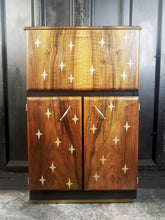 Gold star design vintage drinks cabinet