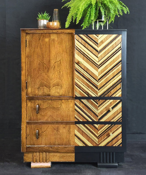 Done up North Drinks Cabinet before and after geometric design