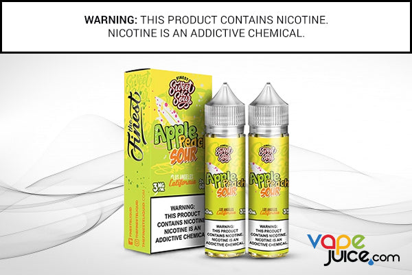 APPLE PEACH SOUR RINGS BY FINEST SWEET AND SOUR 120ML