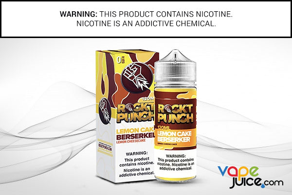 LEMON CAKE BERSERKER BY ROCKT PUNCH 120ML