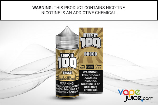 BACCO BY KEEP IT 100 e juice