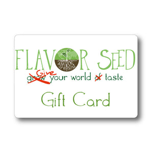 Flavor Seed Gift Card