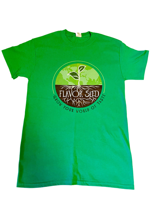 Short Sleeve Cotton T Shirt (Original Green Flavor Seed)
