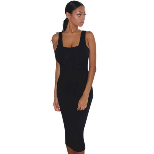 Dress Sexy Slim Sleeveless Bodycon