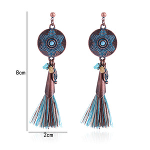 Ethnic Natural Stone Tassel Earring