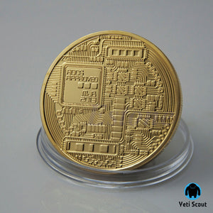 24 Carat Gold Plated Bitcoin Collectible Coin