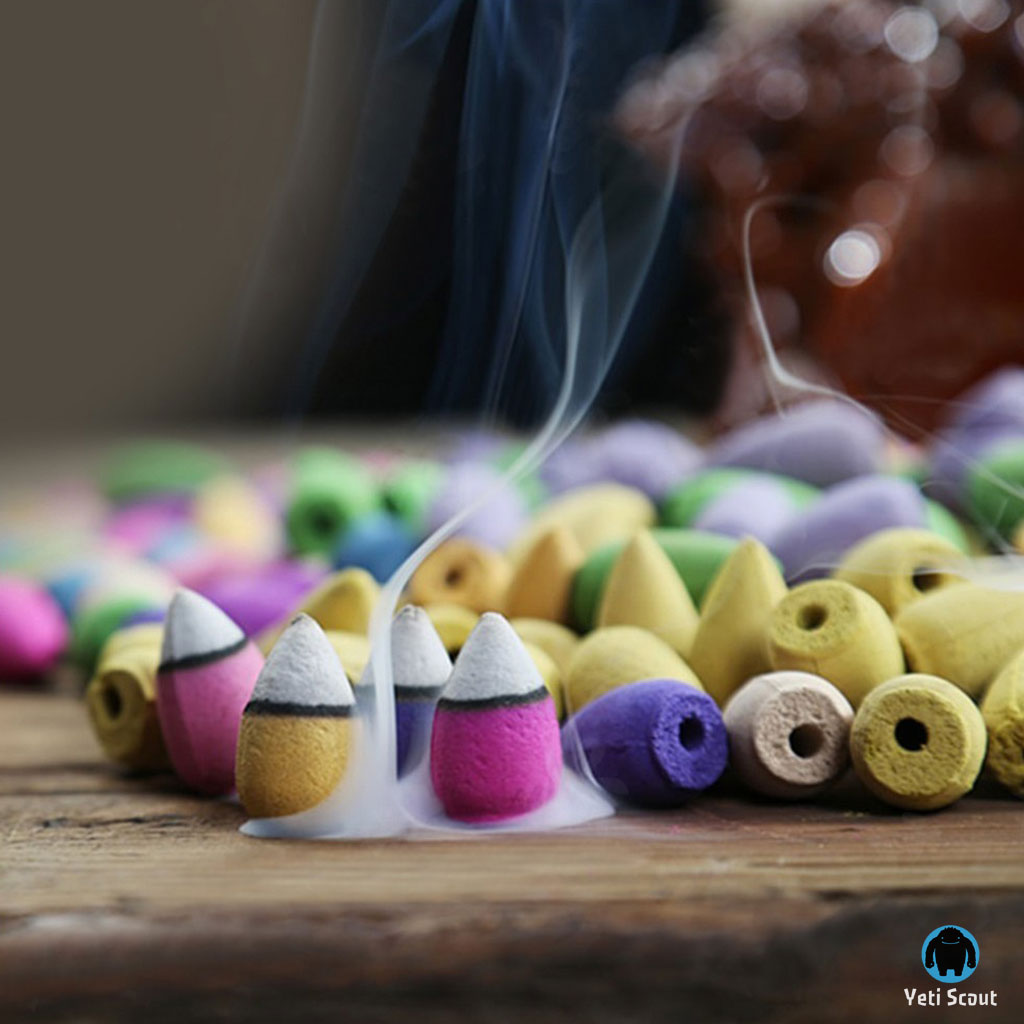 Natural Backflow Incense Cones (70pcs)