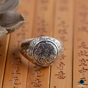 Pure 925 Sterling Silver Buddhistic Ring