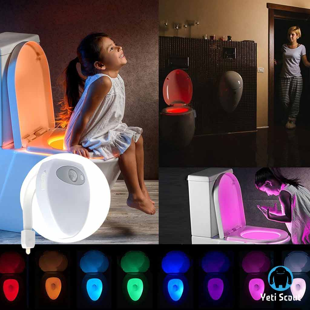 LED Motion Sensor Activated Bathroom Night - Rechargeable