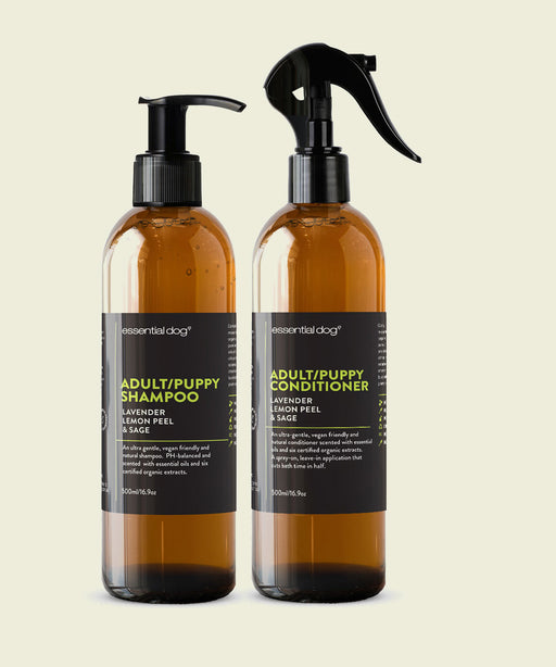 Essential Dog Adult and Puppy Shampoo + Conditioner 2 x 500ml