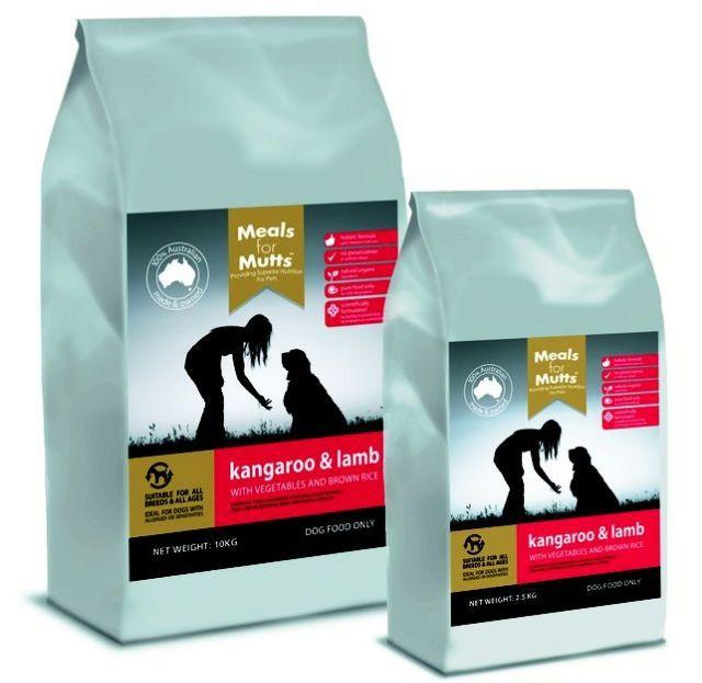 MfM Dogs Kangaroo and Lamb 2.5kg - Meals For Mutts - Naturopet