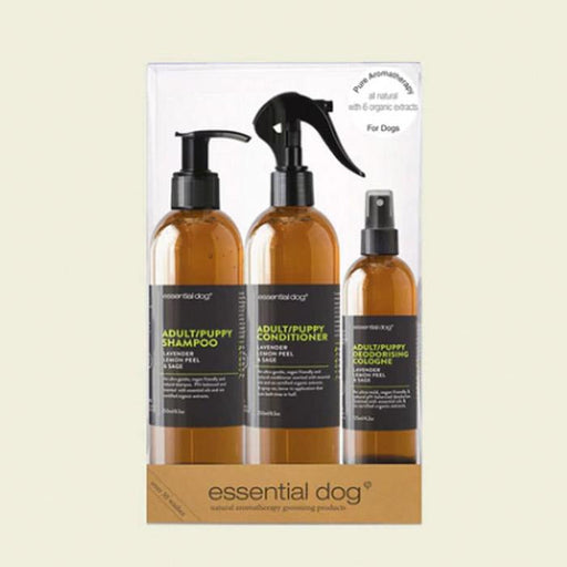 Essential Dog Adult/Puppy Grooming Gift Pack: Lavender, Lemon Peel And Clary Sage