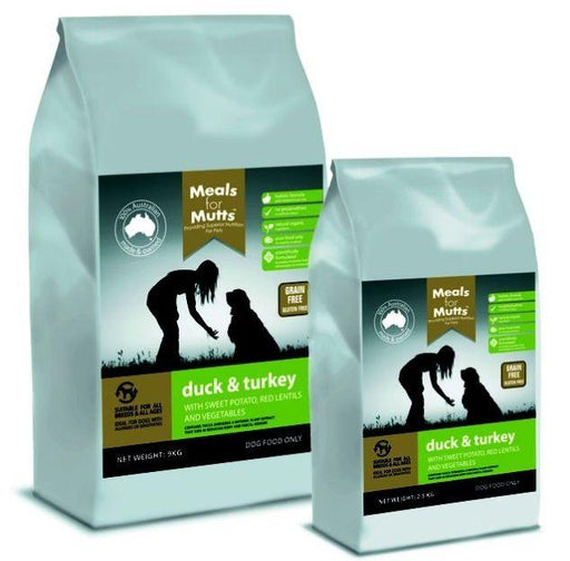 MfM Dogs Grain Free Duck and Turkey 2.5kg - Meals for Mutts - Naturopet