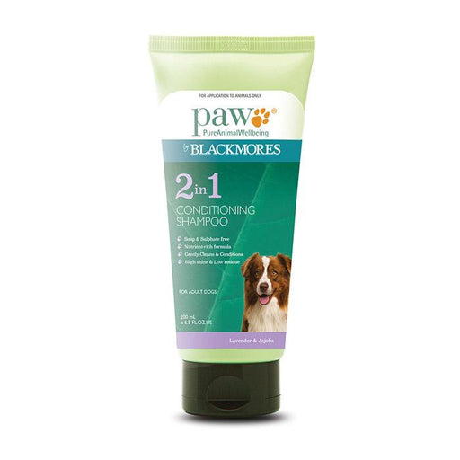PAW 2 in 1 Conditioning Shampoo 200ml, 500ml - Naturopet